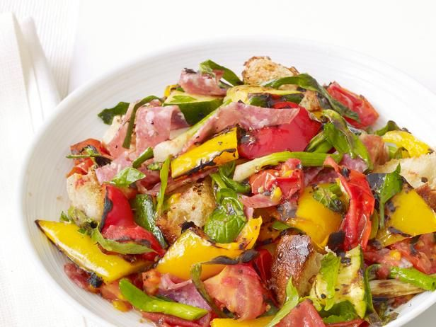 Serve this Grilled Panzanella Salad as a main dish for four or as a side dish for a larger group.