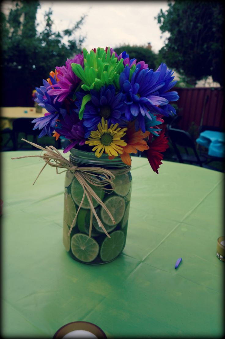 Mexican Fiesta Table Centerpiece Plainlyflorals