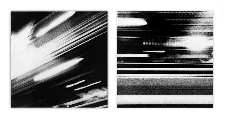 STUDIES IN LIGHT A & B - 24 x 24 ea - mixed media on wood w/ resin finish - 2013
