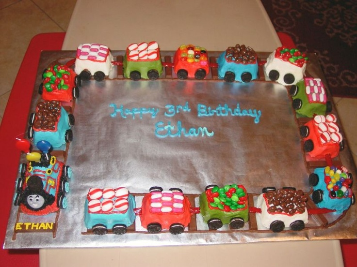 how to make a train birthday cake video