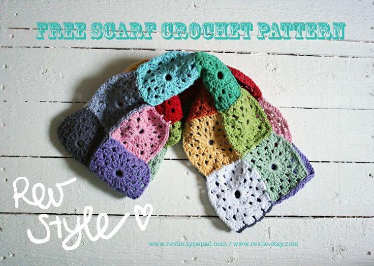 Free Crochet Granny Square Scarf Patterns : 25+ best ideas about Granny square scarf on Pinterest ...