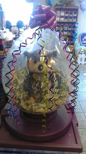 Balloon Stuffed with money and animal