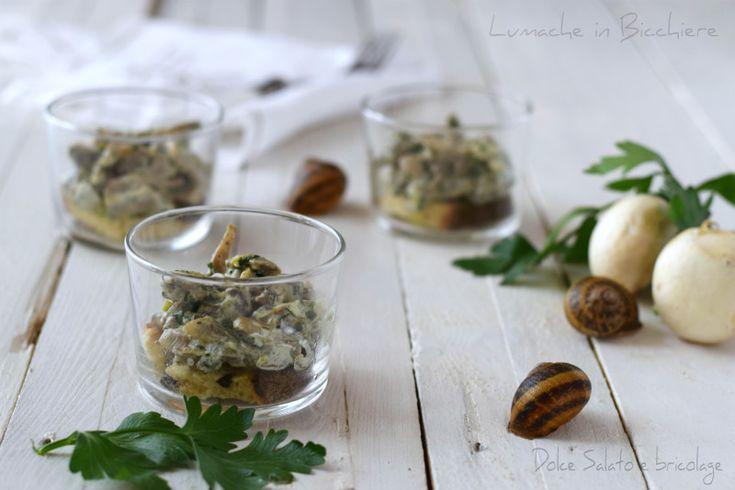 Antipasto di lumache in bicchiere ricetta gourmet