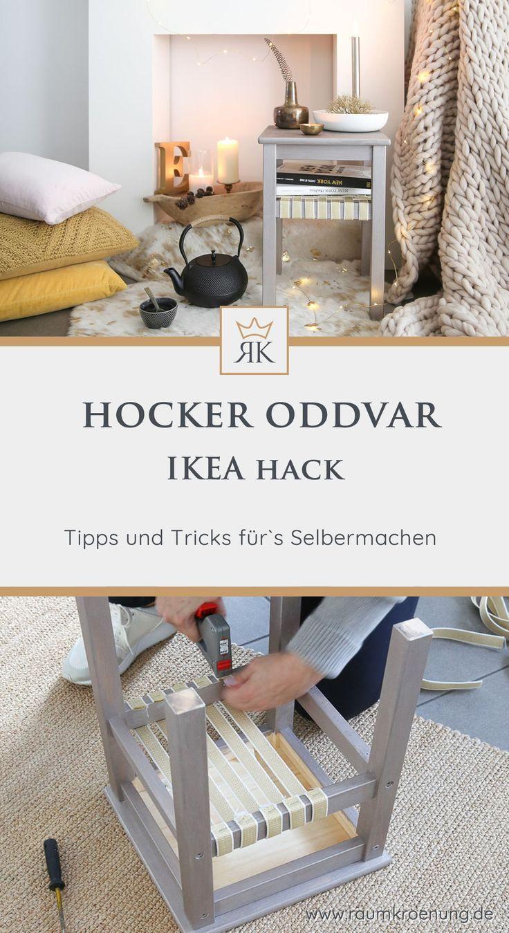 Hocker für ein hyggeliges Zuhause selbermachen I IKEA Hack I Raumkrönung   I E… #einrichtungsstil