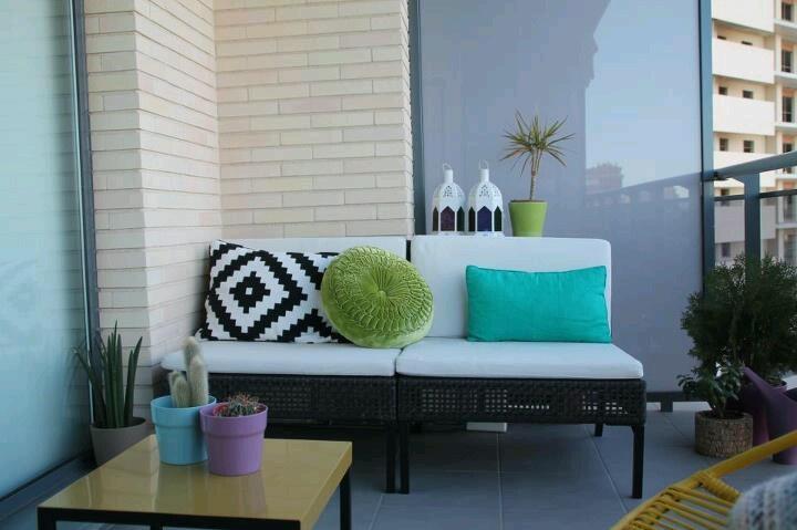 Condo balcony decoration idea