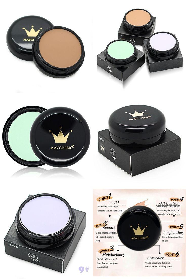 [Visit to Buy] Salon Party Concealer Contour Face Cream Makeup Palette Powder Brush Foundation Moisturizing Oil-control H7 #Advertisement