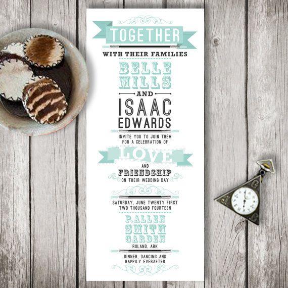 Items Similar To Wood Wedding Programs On Etsy · Blue Wedding Invitation  SuitesCasual ...