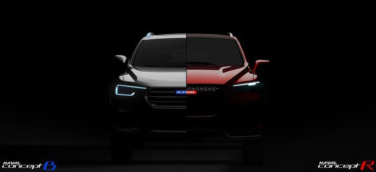 Haval SUV teaser- concept R And concept B-Shanghai 2015-