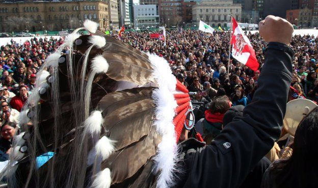 "First Nations Predict ""Hordes"" Will Disrupt Parliament Hill If Pipelines Approved"