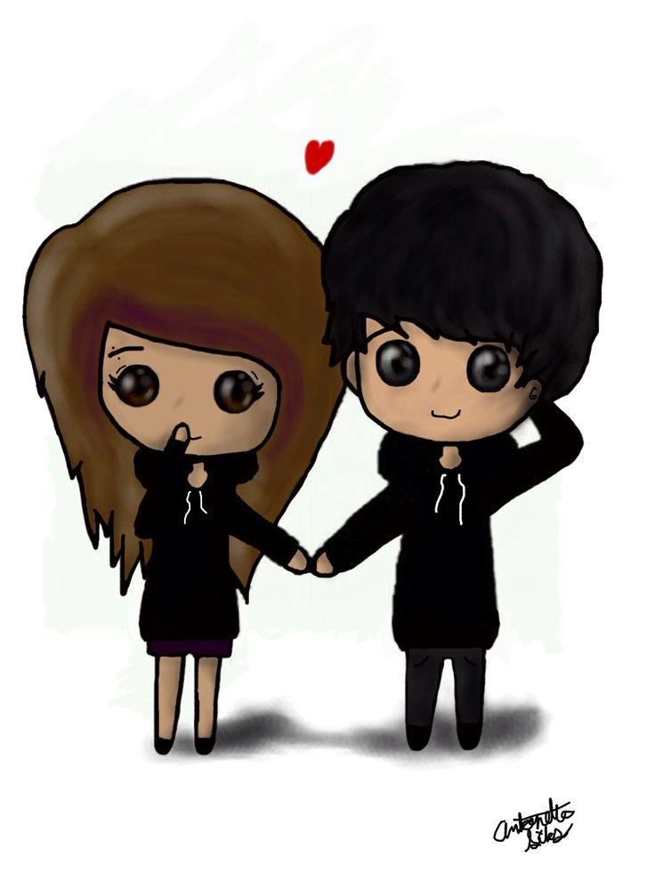 Gallery For gt Emo Couples Holding Hands Drawings