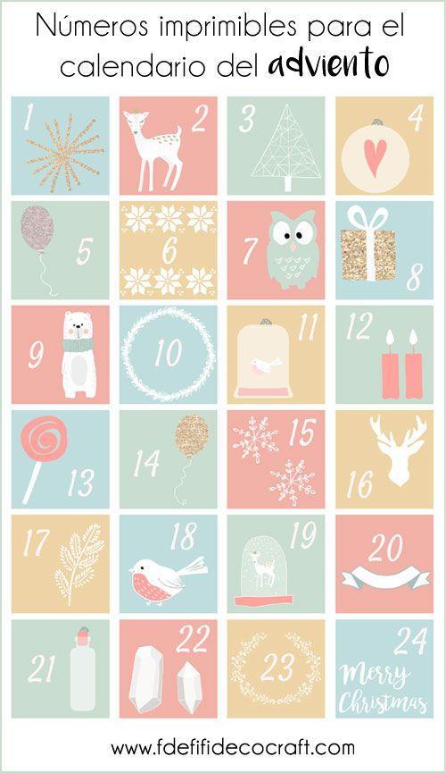 Calendario Adviento Infantil.Calendario Del Adviento Descargable Numeros Gratuitos E