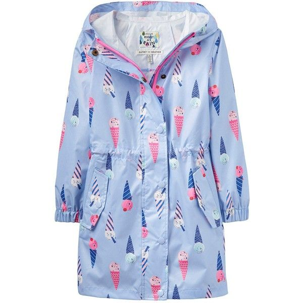 Joules Waterproof Packaway Parka ($39) ❤ liked on Polyvore featuring outerwear, coats, blue parka, waterproof parka, blue coat, parka coat and water proof coat