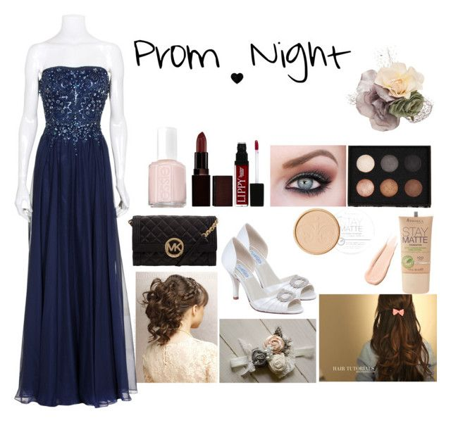 Prom Night by blondieau on Polyvore featuring MICHAEL Michael Kors, Mimco, LORAC, Rimmel, Laura Mercier, Butter London, Hourglass Cosmetics, Essie, Prom and gorgeous