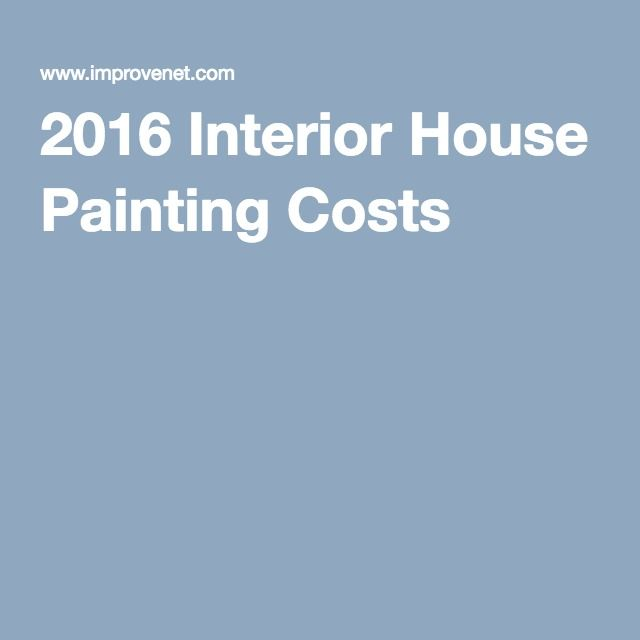 2016 Interior House Painting Costs
