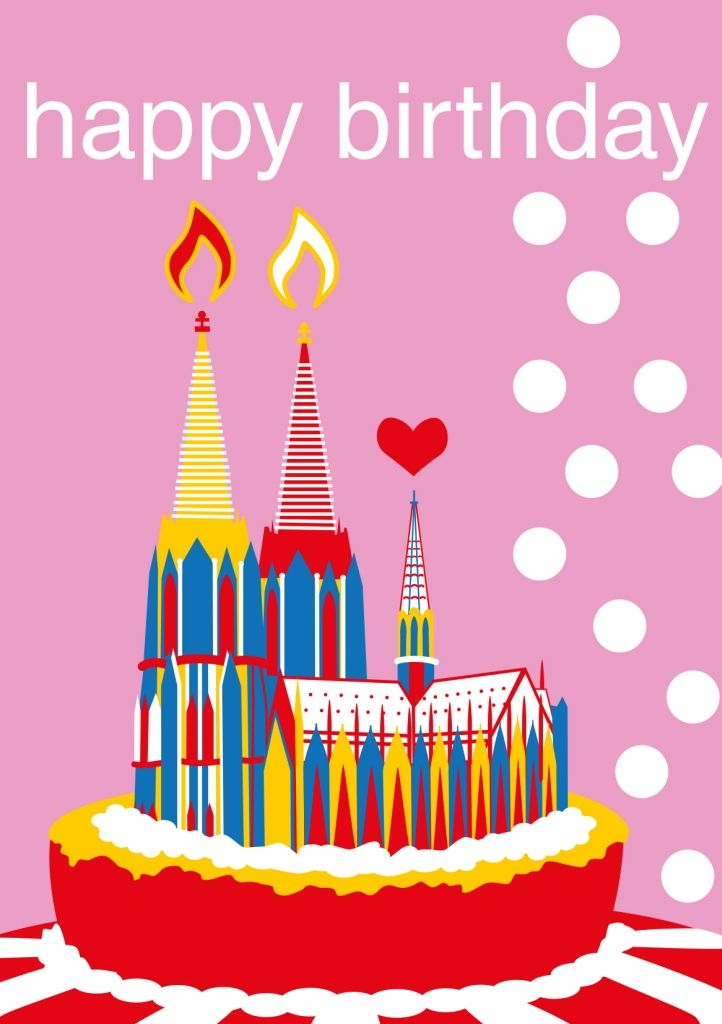 Doppelkarte Happy Birthday Koln Spruche Und Kolsch Kultur
