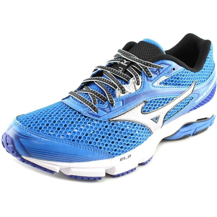 Mizuno Men's Wave Legend 3 Running Shoe, Electric Blue Lemonade Silver, 14 D US. Lace-up running shoe featuring breathable mesh upper with parallel wave technology. Padded tongue and collar. Responsive cushioning el8 midsole. Non-marking rubber outsole.
