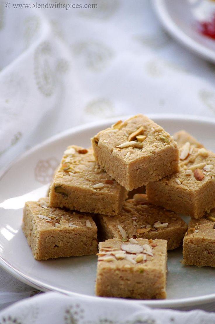 Mohanthal Recipe - Gram Flour Fudge Recipe - A Traditional Gujarati Sweet Recipe for #Diwali! - blendwithspices.com