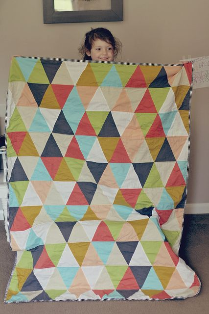 triangle quilt by ohsohappytogether, via Flickr