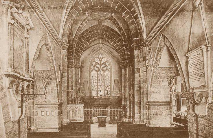 Channel islands, Guernsey, St Peter Port Town Church Interior 1900's.jpg 1,100×711 pixels