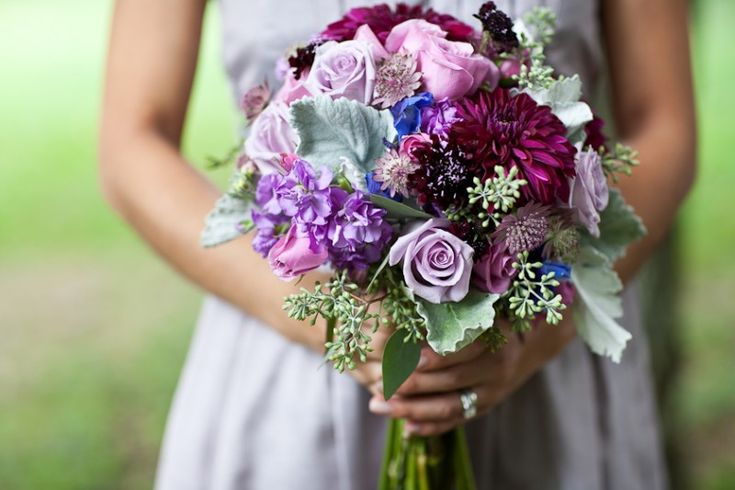 such beautiful plums and purples.  bouquet by Holly Chapple Flowers & photo by Vicki Grafton Photography.