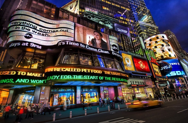 An Electric Night in Times Square by Stuck in Customs, via Flickr