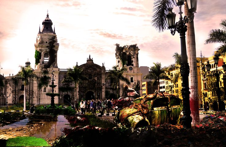 Photoshop photomanipulation - serie World zombie apocalypse: Nº1 Lima.