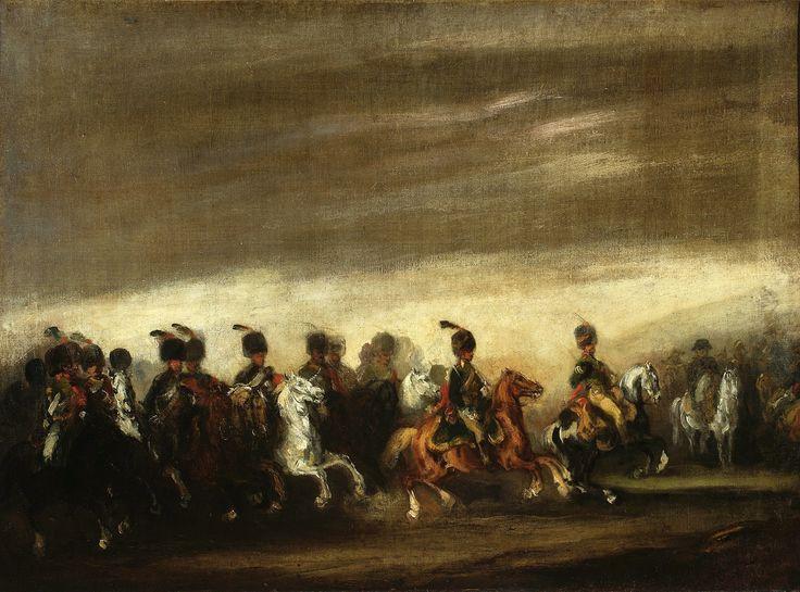 Parade before Napoleon by Piotr Michałowski, ca. 1837 (PD-art/old), Muzeum Narodowe w Warszawie (MNW)