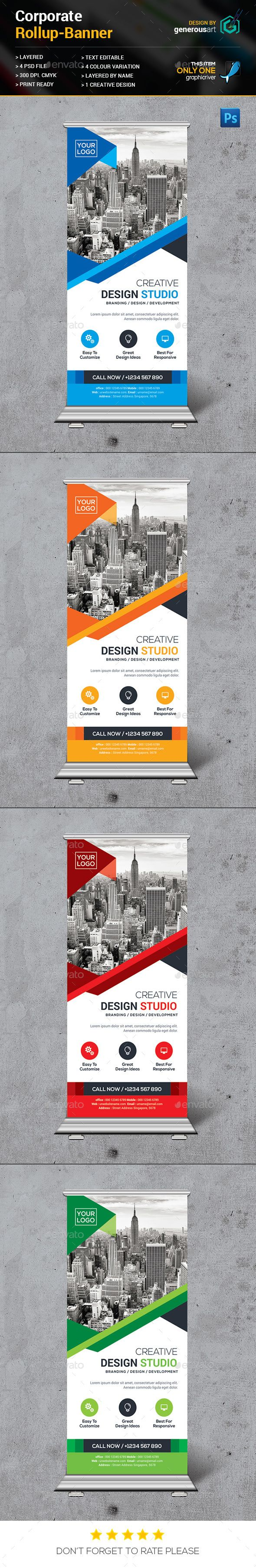 Poster design rates - Rollup Banner