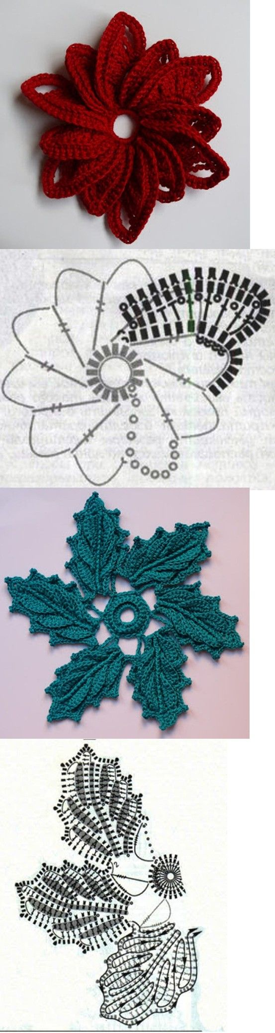 leaf patterns in Irish Crochet