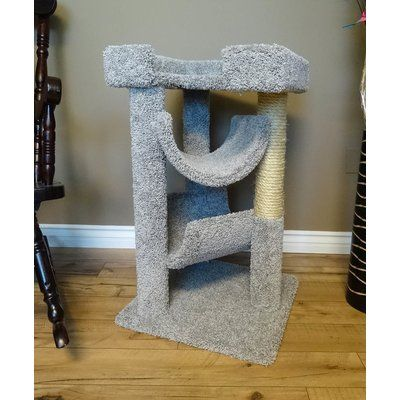 "New Cat Condos 33"" Premier Cat Scratching Tree Color: Gray"