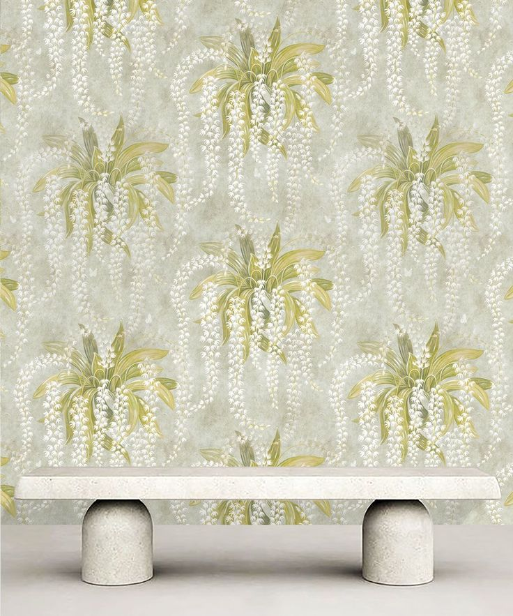 Orchid Wallpaper Large Scale Bold Print Floral Milton