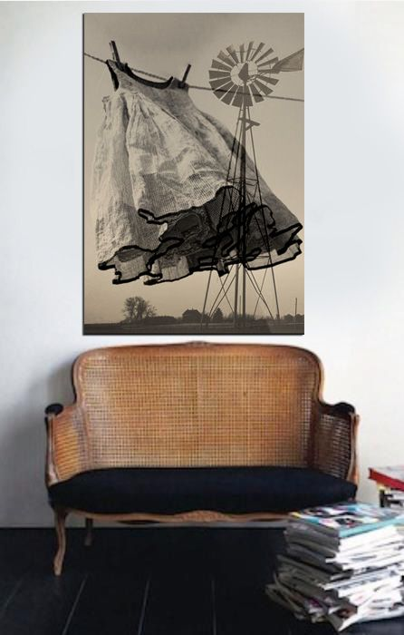 There is just something special about the connection here between the picture and the small sofa