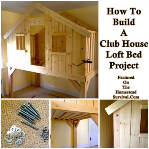 The Homestead Survival   How To Build A Club House Loft Bed Project   http://thehomesteadsurvival.com