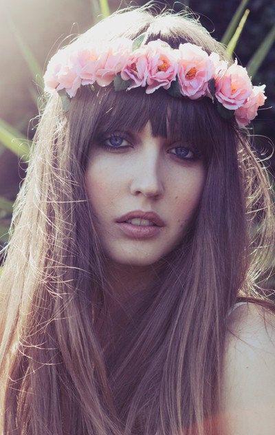 headband,flower crown, coachella headband ,Pink Flower Crown,Rose Headband,Rose Floral Crown, Peach, coachella flower crown, Festival Wear on Etsy, $35.00