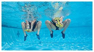 10-Minute Water Workout - Prevention.com- Jump and Digs (Frogs) Can also do with noodle.