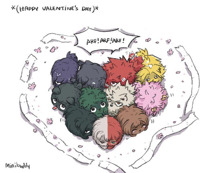 Puppy transformation!! Happy Valentine's Day♥♥♥ //Aizawa sensei plz don't scold them X'D