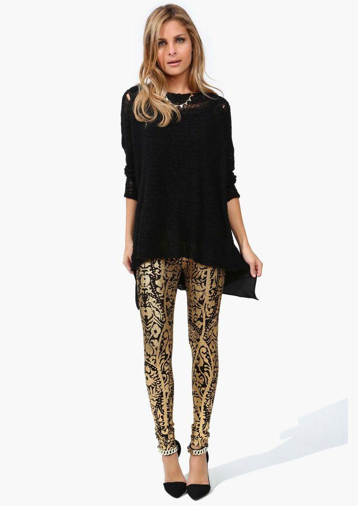 Necessary Clothing gold leggings