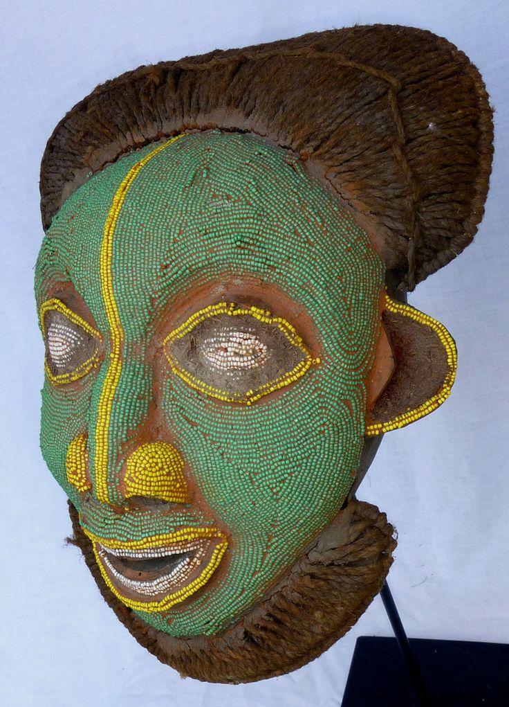 Bamileke Beaded Mask (green)