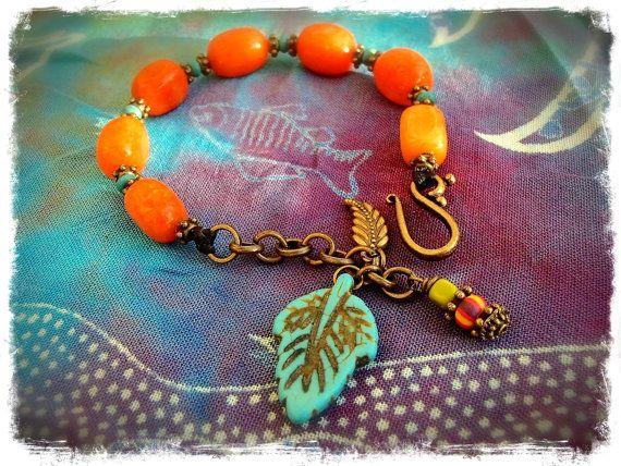 Hey, I found this really awesome Etsy listing at https://www.etsy.com/listing/163732852/tangerine-orange-stone-bracelet