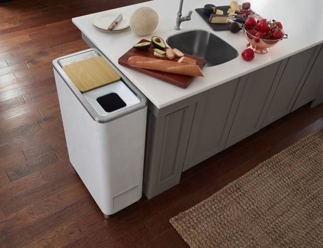 Composteira elétrica portátil transforma resíduos de cozinha em adubo em 24h