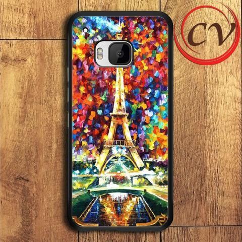 Eiffel Tower HTC One M9 Plus Black Case