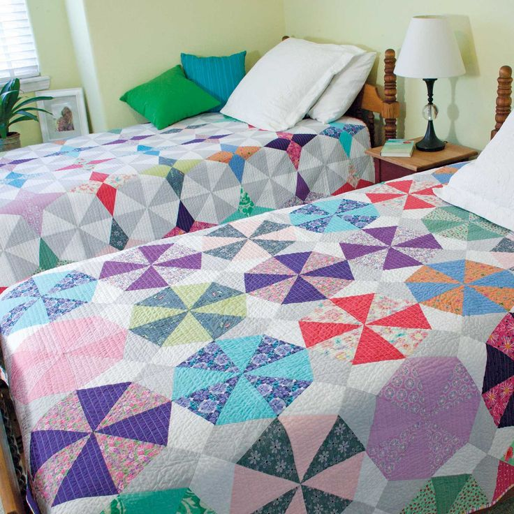 sparkle u0026 spin double the fun twin quilt patterns designed and machine quilted by lisa - Twin Quilts