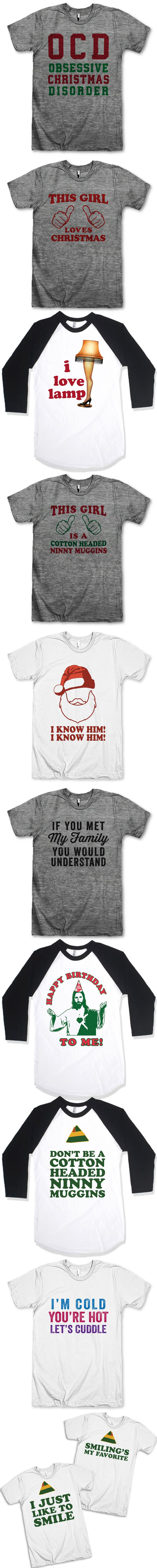 + 11 Christmas T-Shirts You Need Right Now + Our Chistmas Shirts are perfect for giving yourself a present, and even more perfect to share with your BFF! We've got TONS of matching shirts, and lots of funny and sarcastic tees for everyone! Check out T Shirts From Your Favorite Movies, or one of our other collections like Couples shirts and Fitspo Tees. We've got Fresh Designs for Funny T Shirts that are guaranteed to make you Laugh Out Loud! :-) Awesome Best Friends Tees!