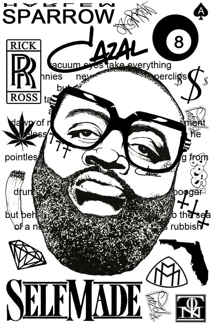 Rick Ross by harlemsparrow.deviantart.com on @DeviantArt