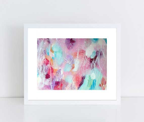 Intuitive Painting, Colorful Art, Abstract, Floral Painting, Eco, Self-love