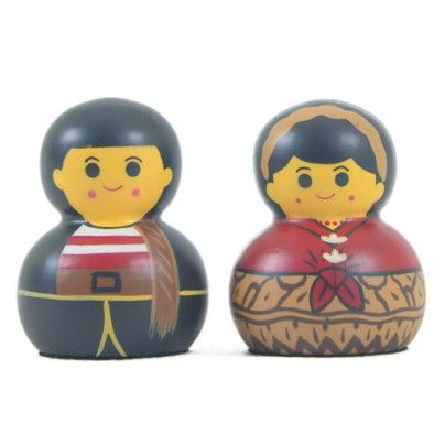 home decoration: toothpicks cover with traditional Madura couple traditional costume