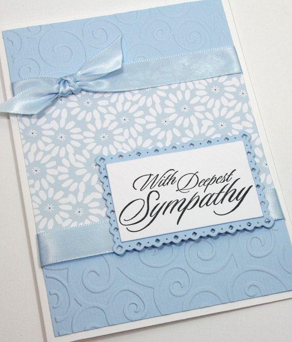 Sympathy Handmade Card / With Deepest Sympathy by CardsbyGayelynn