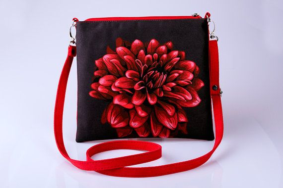 Hey, I found this really awesome Etsy listing at https://www.etsy.com/listing/238196327/red-flower-clutch-bag-print-clutch