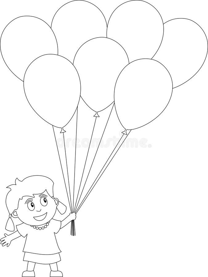 Coloring Book For Kids 25 Girl With Balloons Useful Also For Colouring Book Sponsored Girl Ba Coloring Books Kids Coloring Books Its A Girl Balloons