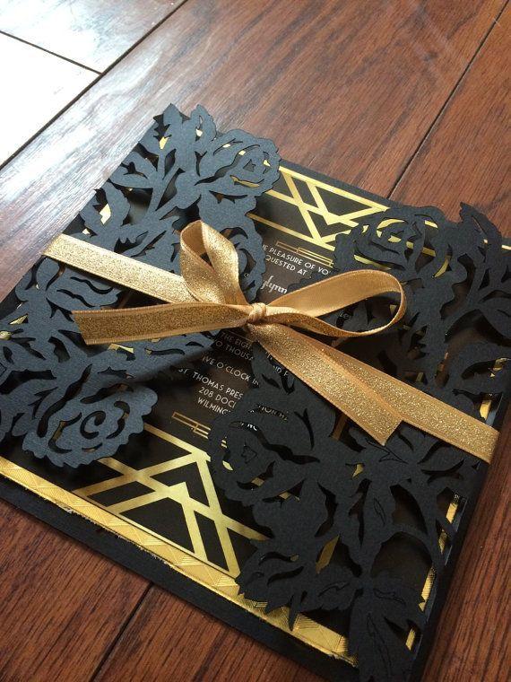 the great gatsby wedding inspiration | wedding invitation ideas | v/ etsy |